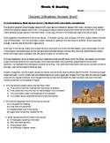 "Grade 6 Reading- Review Packet for ""Ancient Civilizations"" unit."