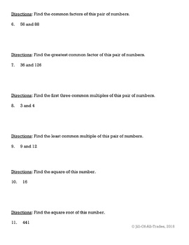 Grade 6 Review: Positive & Negative Integers (based on Math In Focus Chap. 1-2)