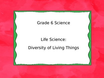 Grade 6 Science I Can Statement Posters - Saskatchewan