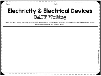 {Grade 6, Unit 3} Science and Me: Electricity and Electrical Devices Centres