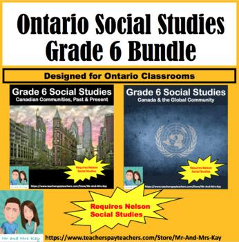 Grade 6 Social Studies - Canada's Communities & Connections Bundle V.2 (Ontario)