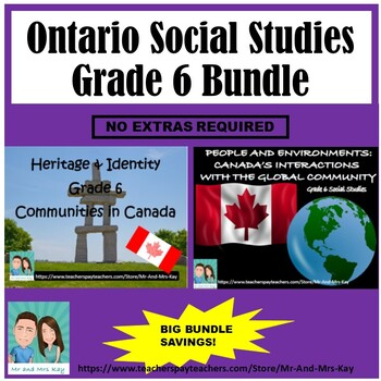 Grade 6 Social Studies - Canada's Communities & Connections Bundle V.1 (Ontario)