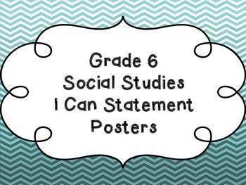 Grade 6 Social Studies I Can Statements
