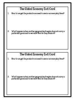 Grade 6 Social Studies (Ontario) - 7 Major Categories of Exporting and Importing