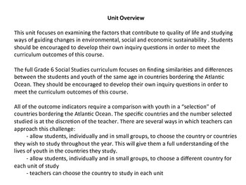 Grade 6 Social Studies Saskatchewan - Resources and Wealth