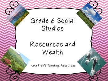 Grade 6 Social Studies Saskatchewan - Resources and Wealth