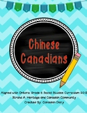 Grade 6 Social Studies: Strand A - Japanese, Chinese, and Irish Canadians