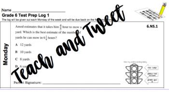 Grade 6 Test Prep Log 1