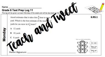 Grade 6 Test Prep Log 11