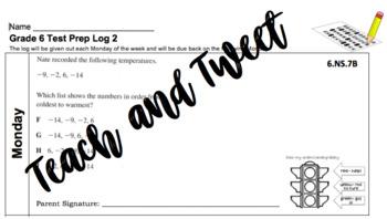 Grade 6 Test Prep Log 2