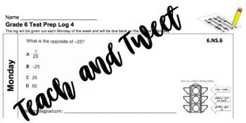 Grade 6 Test Prep Log 4