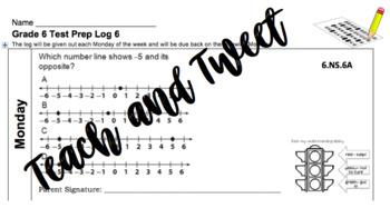 Grade 6 Test Prep Log 6