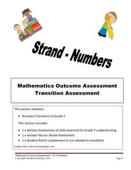 Grade 6 - Transition Assessment