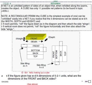 Grade 6 UNIT: Orthogonal Drawings & Nets (4 worksheets & 7