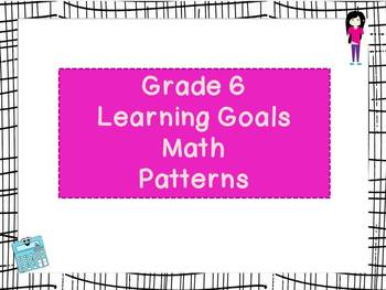 Grade 6 WE ARE Learning Goals - Alberta based - 2 SETS