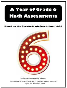 Grade 6 Year of Math Assessments