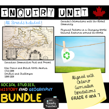 Geography and communities teaching resources teachers pay teachers grade 6 and 7 ontario social studies history and geography bundle fandeluxe Images