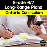 Grade 6 and Grade 7 Long Range Plans Ontario Curriculum