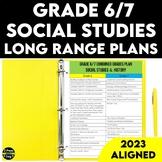Grade 6 and Grade 7 Social Studies Long Range Plans Ontari