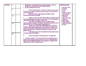 Grade 6 lesson plan- Electricity