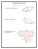 Grade 7 2D Area Measurement Test