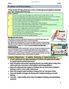 Grade 7,8,9 Year 7,8,9 E-safety Cyber Bullying  Comics Cartoons WORKBOOK Pt1