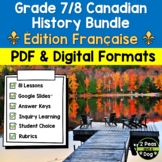 Grade 7/8 Canadian History Bundle 1713-1914 French Edition