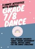 Grade 7/8 Dance Activities with Rubrics