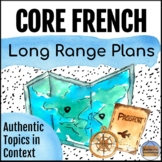 Core French Long Range Plans: Authentic Topics in Context