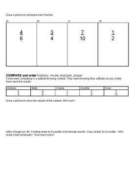 Grade 7/8 Fractions Quiz: Adding/Subtracting Fractions