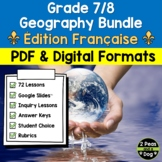 Grade 7/8 Ontario Curriculum Geography Bundle FRENCH