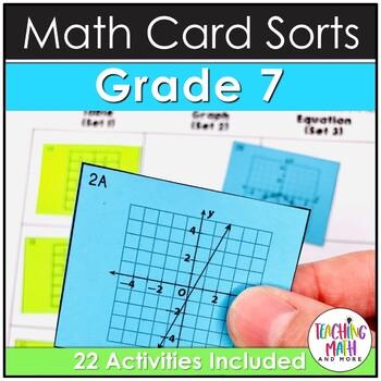 7th Grade Math Card Sort Activities & Assessments BUNDLE