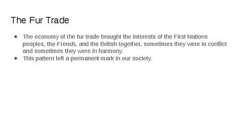 "Grade 7 Alberta Social Chapter 4: ""The Fur Trade Part 1 and 2"" (Nelson)"