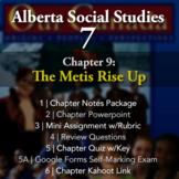 Grade 7 Alberta Social Studies Chapter 9: The Métis Rise Up
