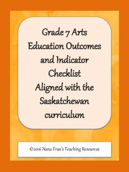 Grade 7 Arts Education Data Tracking Sheets by Nana Fran's Teaching ...