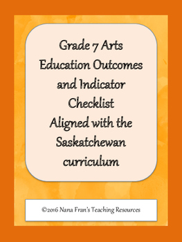 Grade 7 Arts Education Data Tracking Sheets