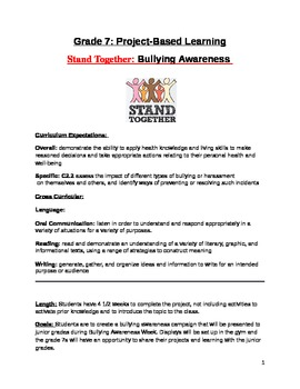 Grade 7 Bullying Awareness Campaign Project