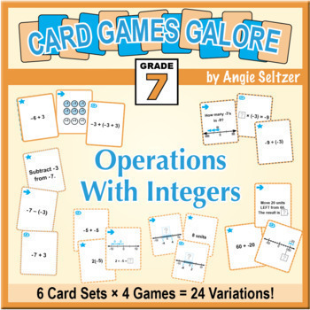 Grade 7 CARD GAMES GALORE: Operations With Integers