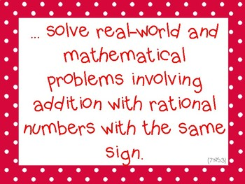 Grade 7 CCSS Math I Can Statements