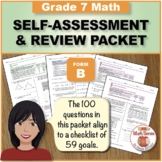 Grade 7 CCSS Math Self-Assessment and Review Packet ~ Form B