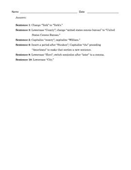 Grade 7 Common Core Language: Editing Practice #3