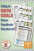 Grade 7 Common Core Math EXCEL Goal Tracker Spreadsheet with Paper Trail