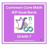 Grade 7 Common Core Math IEP Goal Bank