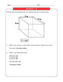 Grade 7 Common Core Math Worksheets: Geometry 7.G 6 #1-4 ...