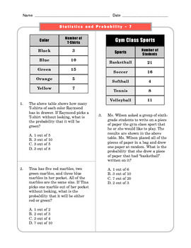 grade 7 common core math worksheets statistics and probability 7 sp 7 1 3. Black Bedroom Furniture Sets. Home Design Ideas