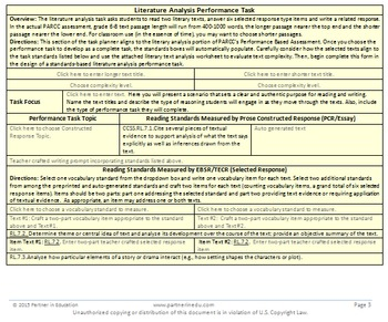 Grade 7: Common Core/PARCC Paired Text Performance Task Template