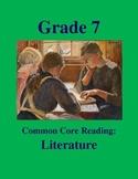 Grade 7 Common Core Reading: Literature -- The Big Important Job
