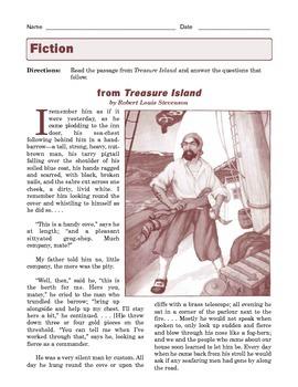 Grade 7 Common Core Reading: Literature -- Treasure island