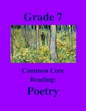 Grade 7 Common Core Reading: Poetry Bundle