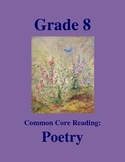 Grade 8 Common Core Reading: Poetry Bundle